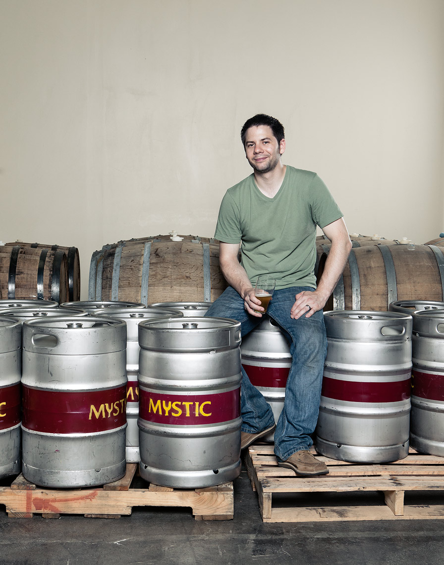 Portraits of Mystic Brewery workers in Boston for Canon USA