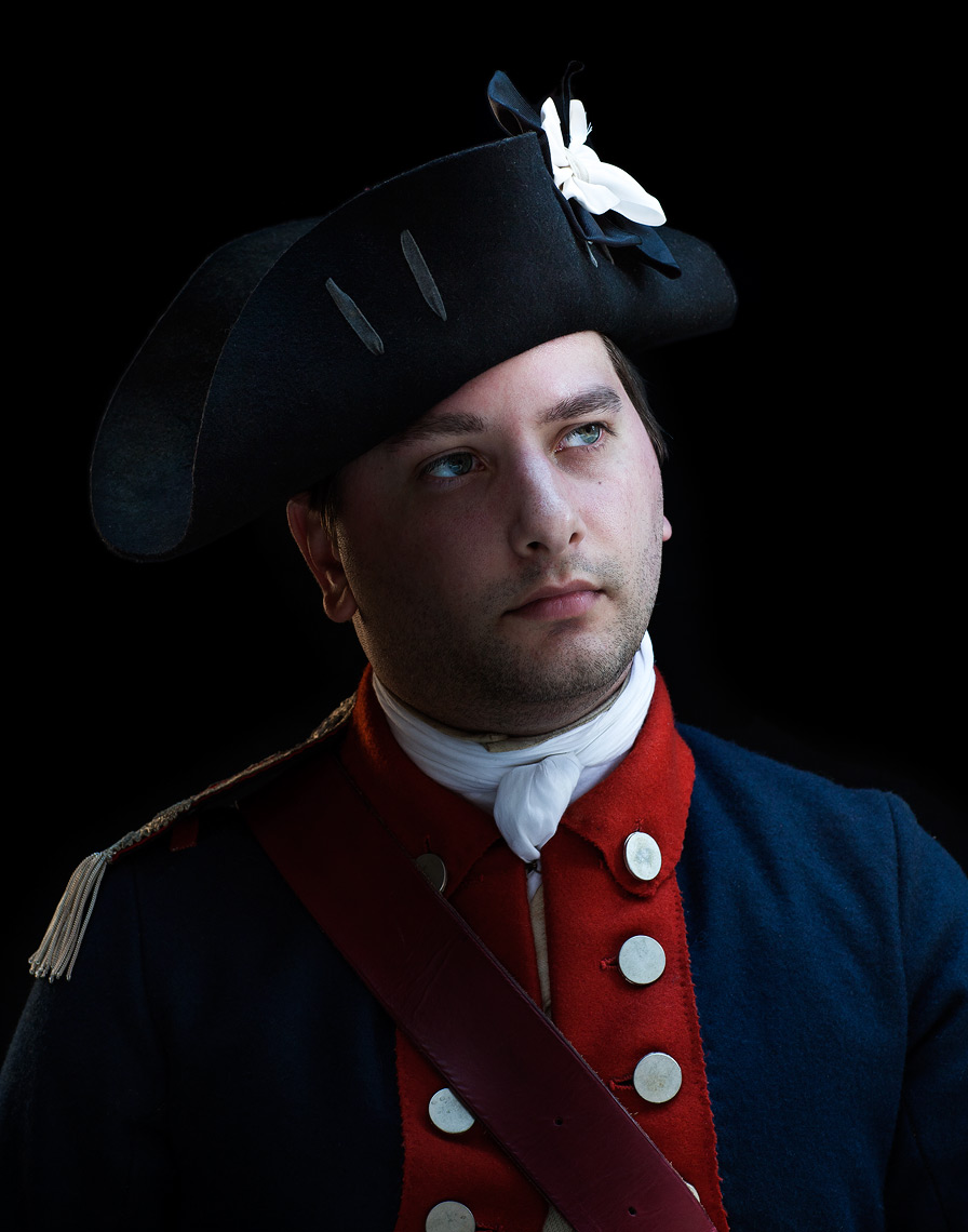Portraits of Boston revolutionary reenactors for Canon USA