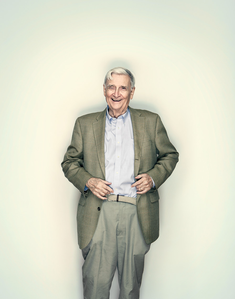 Portrait of Harvard Professor EO Wilson shot for Wellcome Trust Mosaic Project