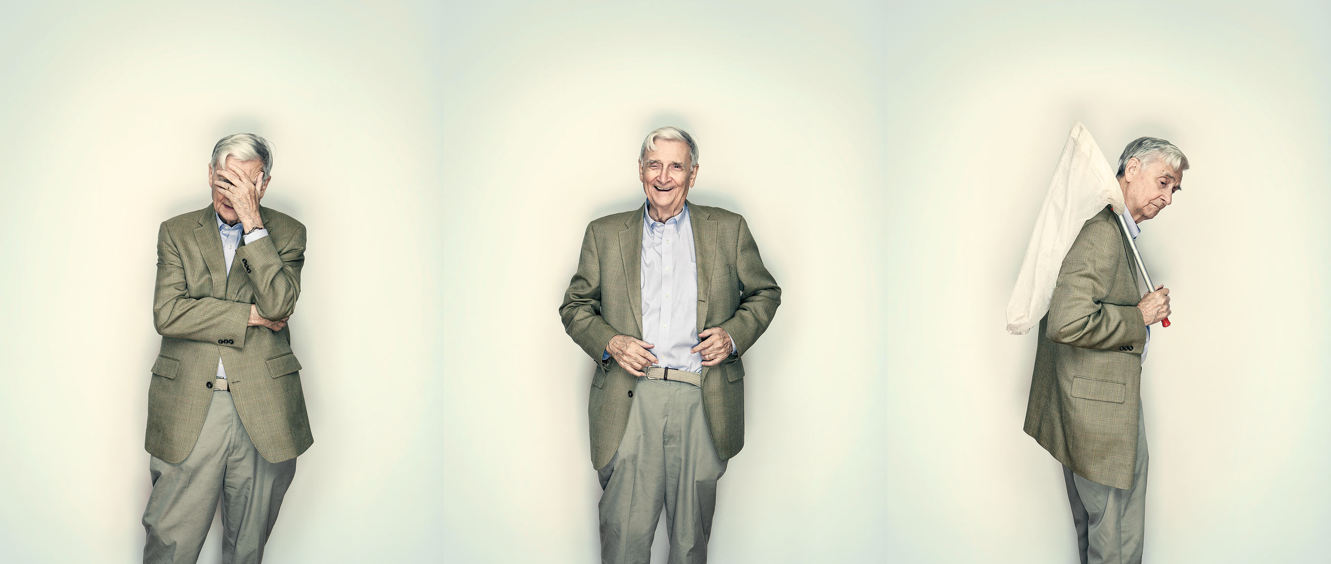 Portrait of Harvard professor, author, and biologist E.O. Wilson shot for Wellcome Trust Mosaic Project