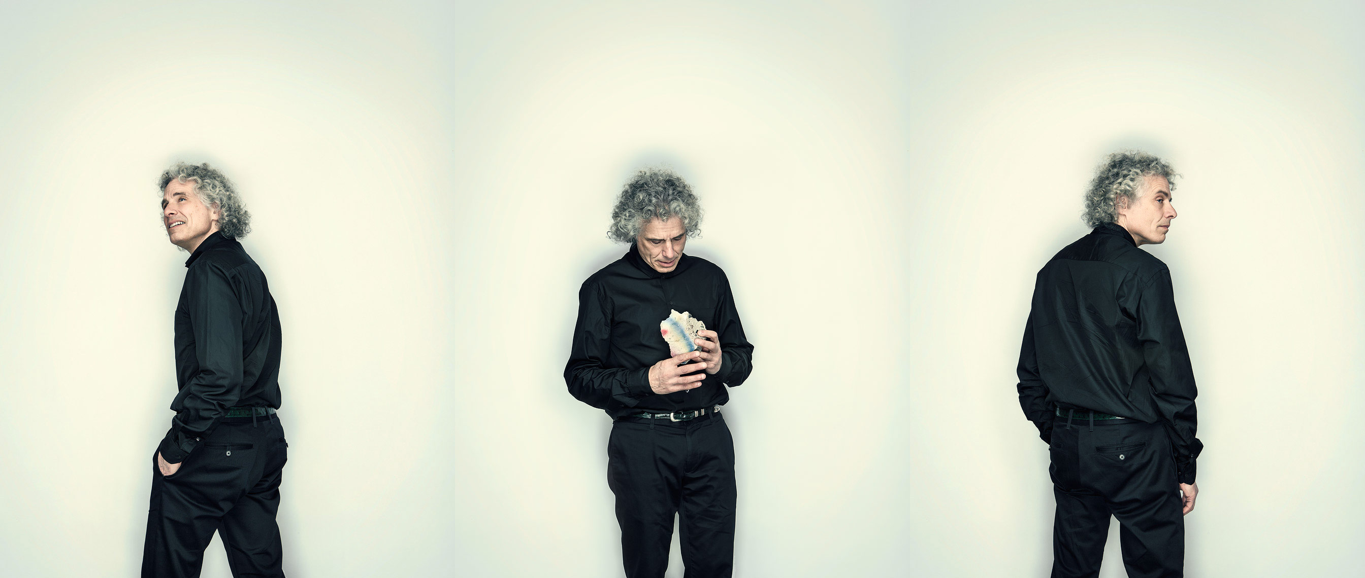 Portrait of Harvard professor and experimental psychologist Steven Pinker shot for Wellcome Trust Mosaic Project